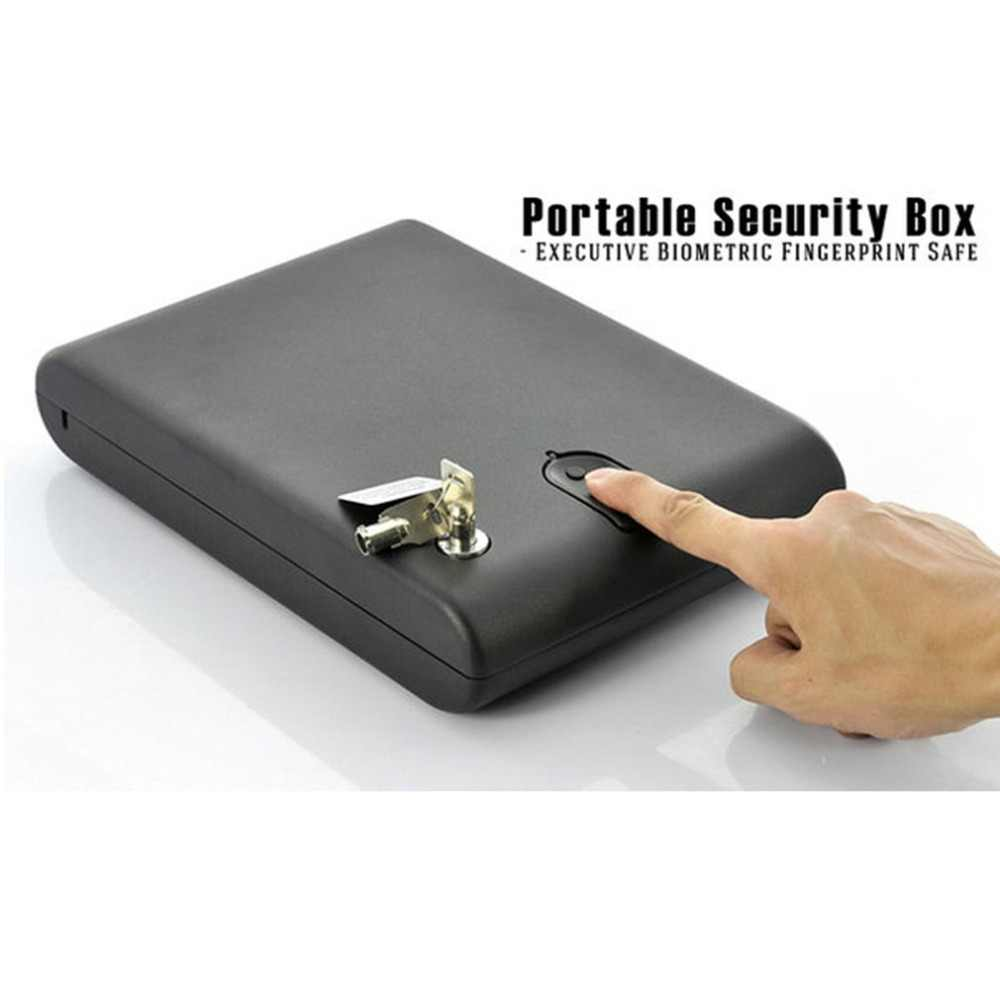 OS100B แบบพกพาปืนพกกล่อง Scratch - ประเภทลายนิ้วมือและกุญแจล็อคความปลอดภัย 2 - in - 1 กล่องมีค่าเครื่องประดับ storage Case