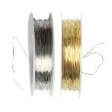 1 rolo de 22 metros cabo de fio de ferro jóias fazendo descobertas para diy nupcial headpiece 0.3mm