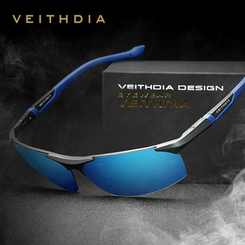 VEITHDIA Polarized Sunglasses Men New Arrival Brand Designer Sun Glasses With Original Box gafas oculos de sol masculino 6589 brand new in original box philips gc5033 80 azur elite steam iron with optimaltemp technology original brand new