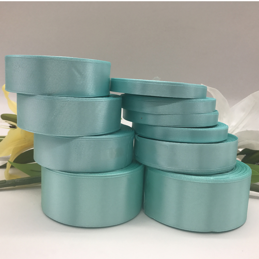 25yards 22meter Tiffany Blue Silk Satin Ribbons