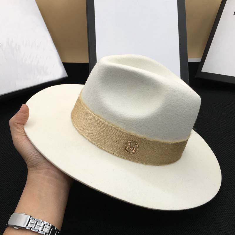 d51d53bb9 FLASH SALE] Autumn wool White male temperament dame cap hat felt hat ...