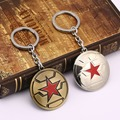 Captain America 2 The Winter Soldier Enamel Shield Star Keychain Top Grade Superhero Cool Men Key Chains Ring New HF11919