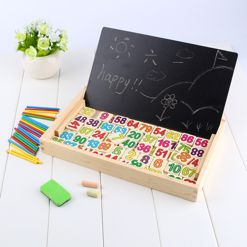 Kids Number Calculate Game Toys Educational Wooden Maths Toys Children Preschool Teaching Counting Learning Count Sticks Gift