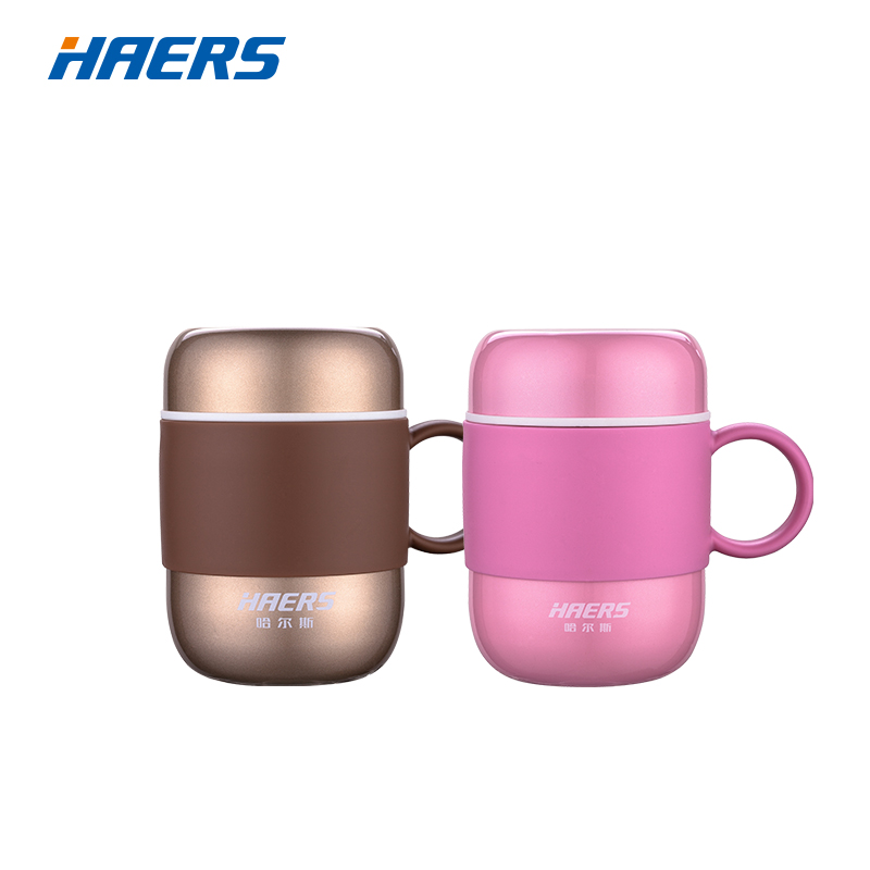 Haers 280ML Candy Color Thermos Stainless Steel Vakuumkolbe Cup til Office Lady og Herrer LBG-280-11