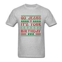 New Jesus T Shirt Group Mens T Shirts Fashion 2017 Cotton 3XL Short Sleeve Custom Christmas