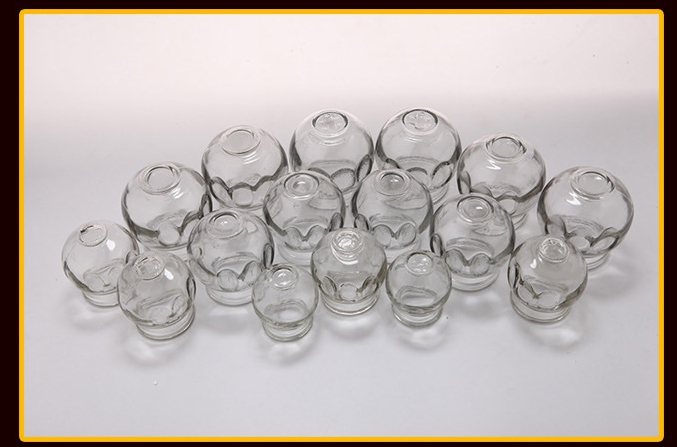 Chinese Cupping Thickening cups Vacuum cupping, Explosion-proof glass cupping jar of a set of 16 for TCM home Fire treatment цена