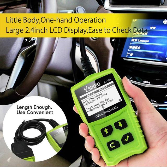 YSDING 101 OBD2 Automotive Scanner OBD Car Diagnostic Tool in Russian Code Reader Universal OBD2 Scanner Better than ELM327