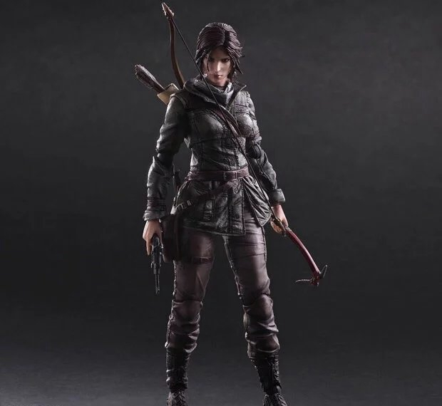 Play Arts Kai PA Tomb Raider Lara Croft Figure Play Arts Figure PA 25cm PVC Action Figure Doll Toys Kids Gift Brinquedos game 26 cm rise of the tomb raider lara croft variant painted figure variant lara croft pvc action figure collectible model toy