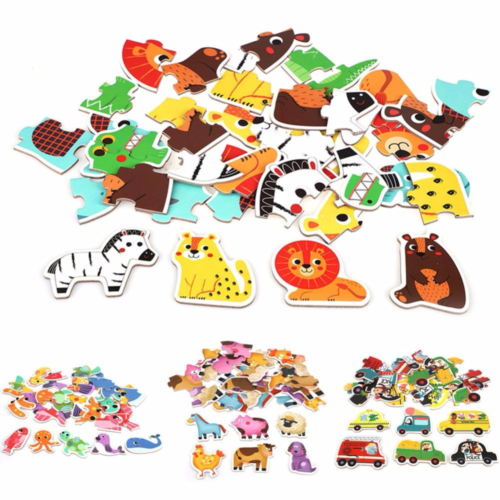 Ambitious 3d Wooden Puzzle, Baby Wooden Toys Puzzles Jigsaw Puzzle Animal /traffic /ocean Fish Baby Educational Games Learning Toy Kids Exquisite Traditional Embroidery Art