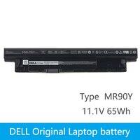 Dell Original New Substituição da bateria Do Portátil para dell Inspiron 3421 3721 5421 5521 5721 3521 5537 2421 2521 MR90Y 65Wh 6 celular