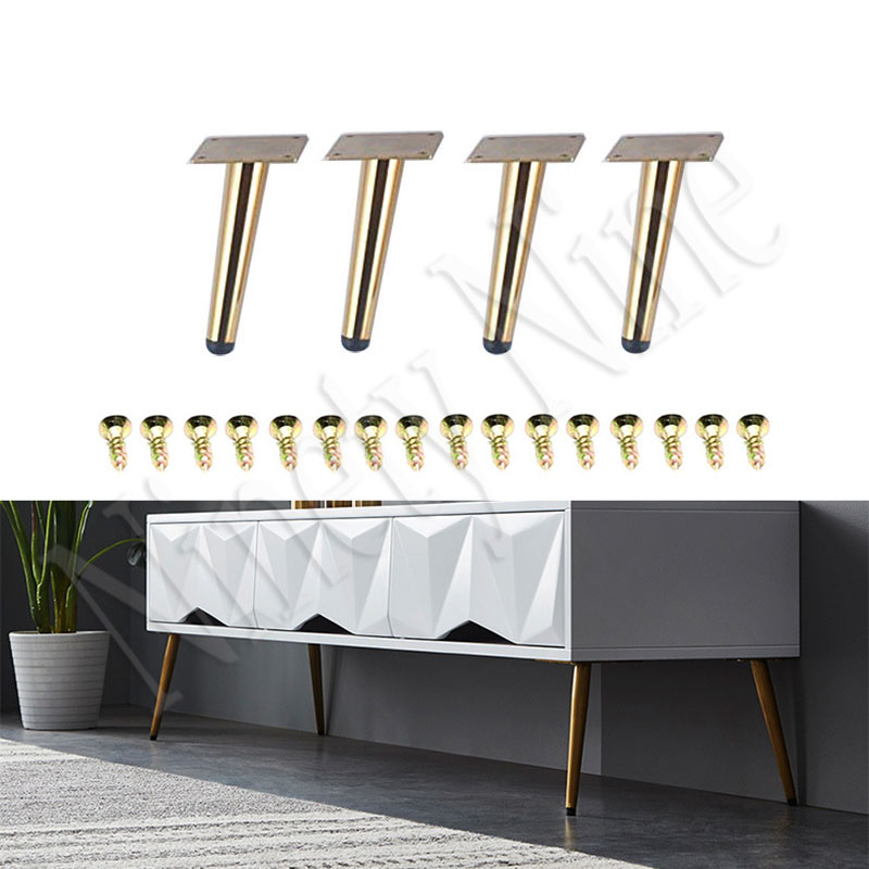 4PCS Furniture Legs 15CM Sofa Legs Furniture Feet Replacement Legs With Leg  For Sofa Cabinet Couch Ottoman Coffee Table Bench