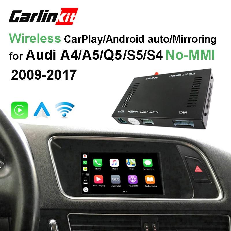 2019 Carro CarPlay Android Auto Decodificador Sem Fio Da Apple para Audi A4 A5 Q5 sem MMI Original Tela imagem Inversa Retrofit kit
