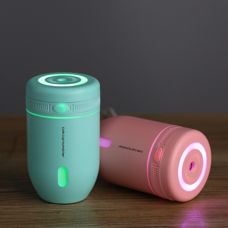 Mini Cute Cup Car Air Humidifier USB Portable Aroma Essential Oil Ultrasonic with LED Night Light 220ML for Bedroom Home Office portable mini air humidifier purifier night light with usb for home office decorations