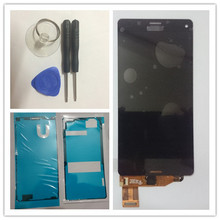 Für sony xperia z3 compact lcd display z3 mini lcd d5803 d5833 touchscreen digitizer assembly + kleber + werkzeuge