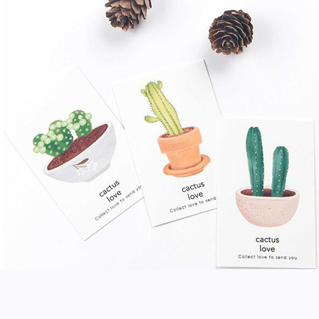 28pcs pack cactus love lomo cards 350g paper bookmark memo greeting card birthday letter envelope