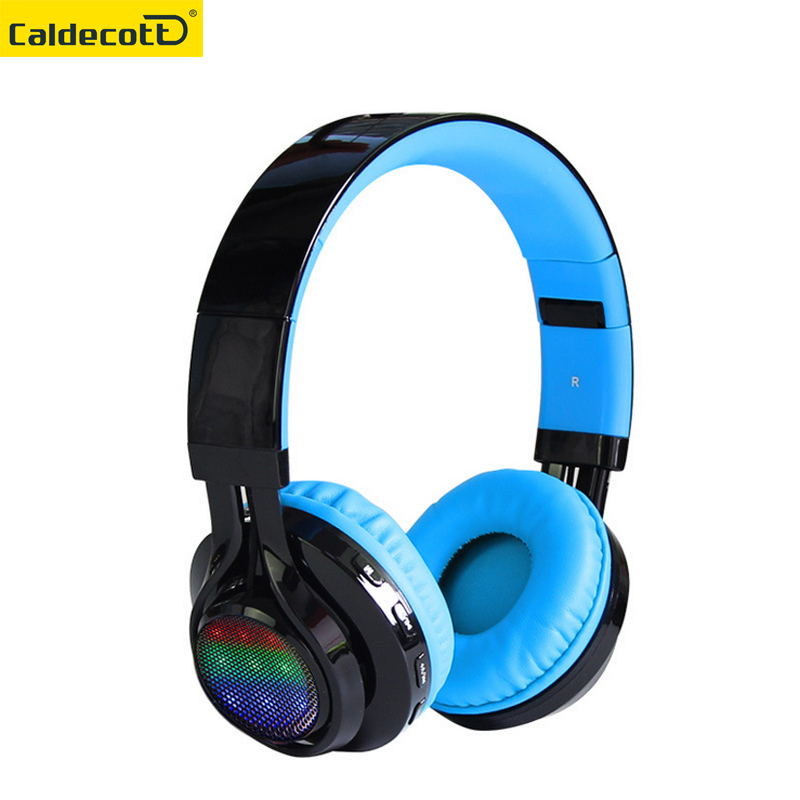 Universal Wireless Stereo Bluetooth Headset HiFi Headphones Foldable LED Luminous Earphone with Mic Micro SD/TF Music FM Radio foldable on ear wireless stereo bluetooth headphones headset supports fm