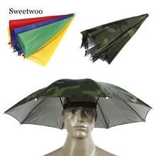 Fishing Cap Outdoor Sport Umbrella Hat Hiking Camping Headwear Head Hats Camouflage Foldable Sunscreen Shade