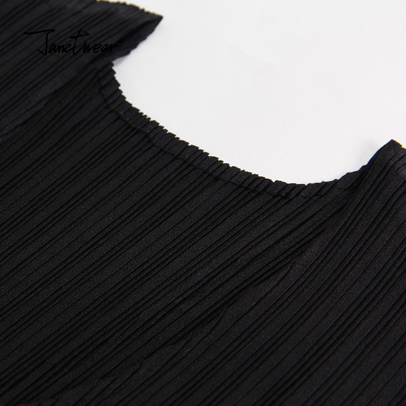 d8e88eb420 Miyak plisowana kamizelka nieregularne sukienka Klasyczna mała czarna  sukienka Moda damska Slim był cienkie Nitki łączenie sukienka w Miyak  plisowana ...