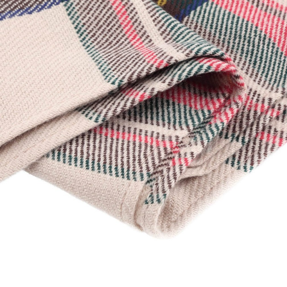 Hewolf Tassels Outdoor Climbing Scarf Blanket Oversized Tartan Scarf Plaid Checked Wrap Shawl Bloggers Favourite Best Gifts