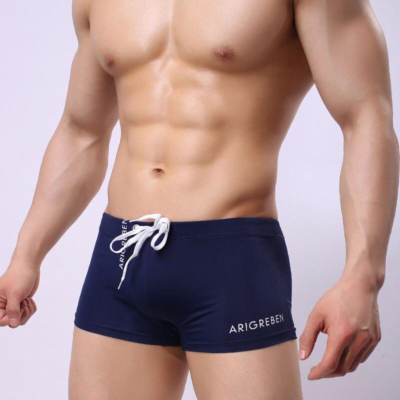 Summer Swimsuit Men Swim Trunks Breathable Boxer Shorts Quik Dry Sports Wear Briefs Adjustable Man Short Pants Beach Surf
