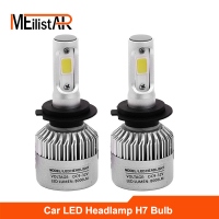 Meilistar S2 COB 72W 8000LM H7 LED Lights LED Lights Bulbs Headlights Fog Lights 12V 24V
