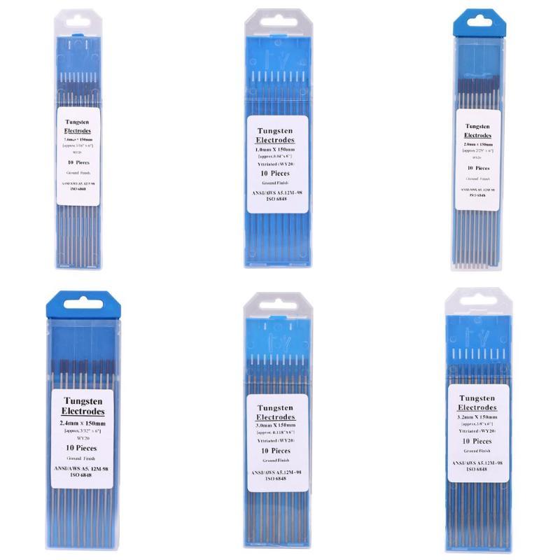 10pcs//box Argon arc welding Tungsten needle//Rod tungsten electrode 1//1.6//2//2.4//3