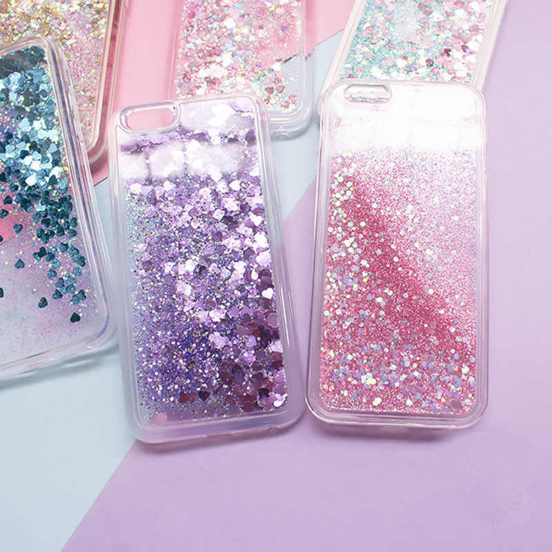 Silicon Liquid Shine Sand Case For Huawei P9 Lite P8 Lite P10 Plus Mate 9 Mate 10 Pro honor 8 Lite Luxury Brand Cell Phone Cover