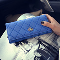 Pu Casual Women Plaid Wallet With Crow Short Fashion Hasp Purse Portable Preppy Style Clutches Elegant Handbags For Teenage