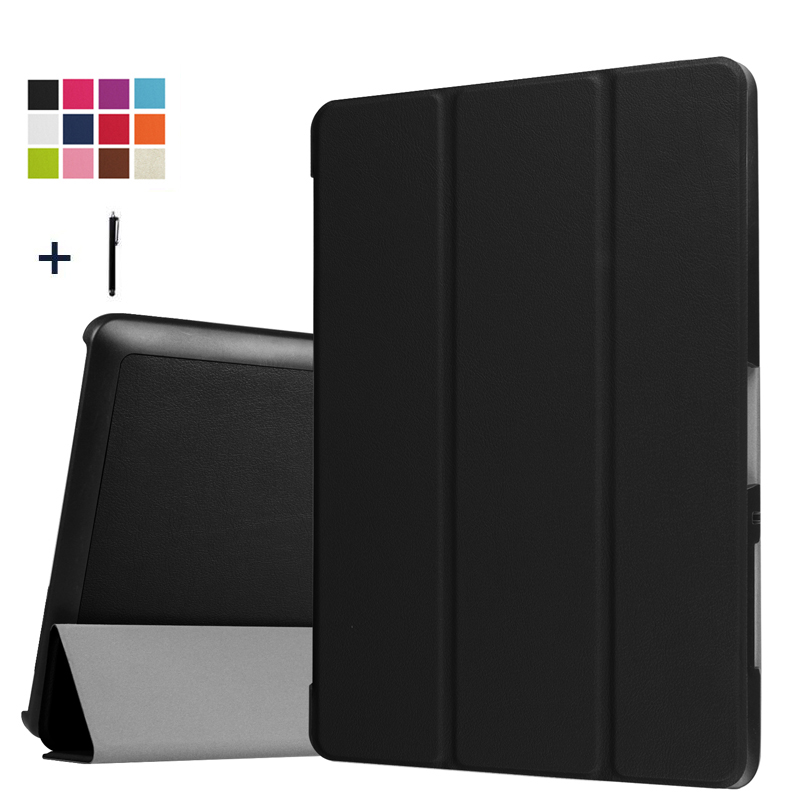 For Acer Iconia one 10 B3-A30 Case Flip Cover for Acer Iconia Tab 10 A3-A40 Tablet 3 Fold Stand Leather Fundas Shell+Stylus планшет acer switch one 10 z8300 532gb
