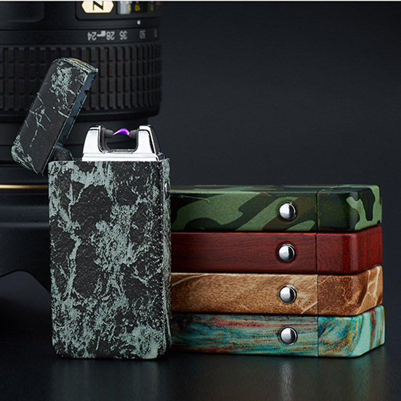 1pc novelty smoking lighter encendedor Pulsed Arc Slim Windproof arc lighter Personality font b Electronics b