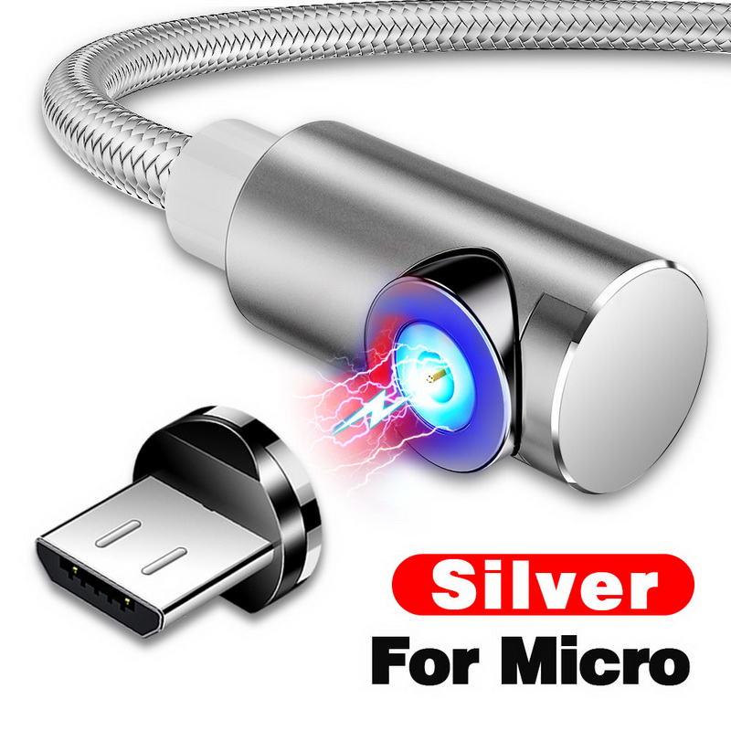 INIU 2 м Магнитный кабель Micro Тип usb C Зарядное устройство для зарядки для iPhone XS X XR 8 7 samsung S8 магнит Android телефонный кабель Шнур - Цвет: For Micro USB Silver