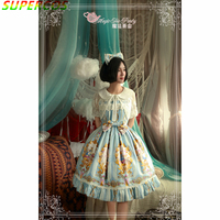 New Arrivals! High Quality! Cotton Classic Beautiful Magic Alice Print Lolita JSK Dress For Art Photo Cosplay Costume