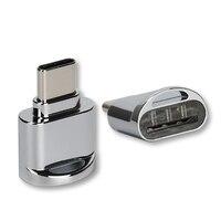 Adaptador portátil do leitor de cartão otg do sd tf do leitor de cartão de memória do tipo c do usb 3.1 para o telefone ou a tabuleta com porto tipo-c