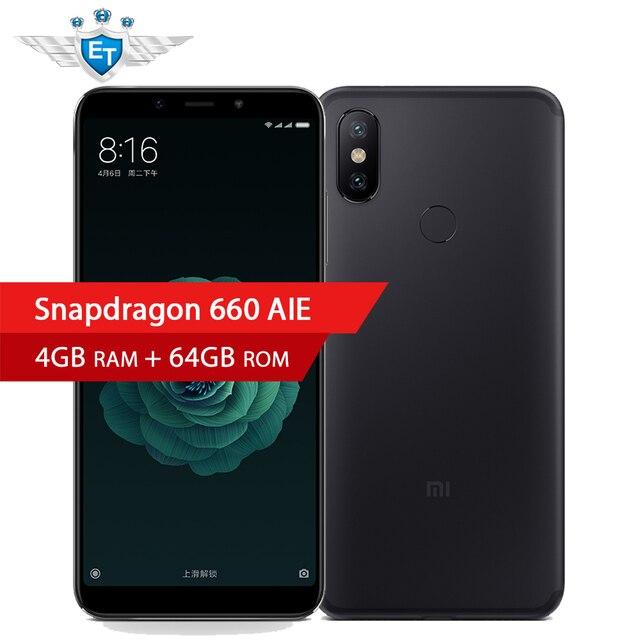 Pre-sale Xiaomi Mi 6X 4GB 64GB Snapdragon 660 AIE CPU 5.99'' Full Screen Smartphone 20MP 12MP AI Dual Camera 4G LTE Mobile Phone