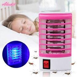 Nueva lámpara eléctrica Mini Mosquito LED Repelente De mosquitos mata a moscas insectos De noche enchufe De EE. UU. Repelente De Mosquito