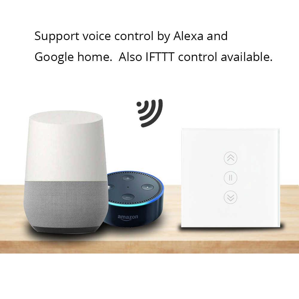 Ue Tuya Smart przełącznik kurtyny Alexa Google Home Assistant umożliwiają sterowanie telefonem bez podświetlany na szklany Panel WiFi dotykowy przełączniki
