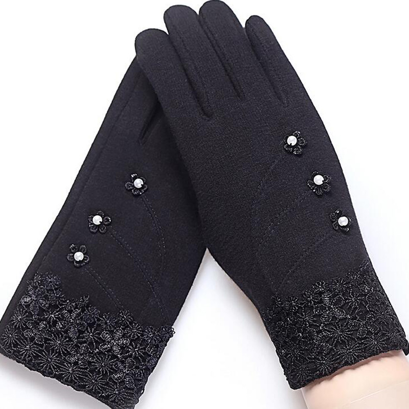 NIUPOZ Fashionable and Elegant Women Touch Screen Gloves for Winter made of Non Inverted Velvet to Keep Hands Warm 4