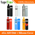 Original Joyetech ego AIO D22 Ecig Kit 2ml Tank 1500mAh aio d22 Battery with Silicone Case Cover for aio d22 Vape Kit VS ego AIO