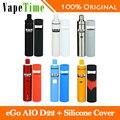 Original joyetech ego kit ecig 2 ml tanque 1500 mah aio aio d22 d22 batería con Funda de Silicona para aio d22 Kit Vape VS ego AIO