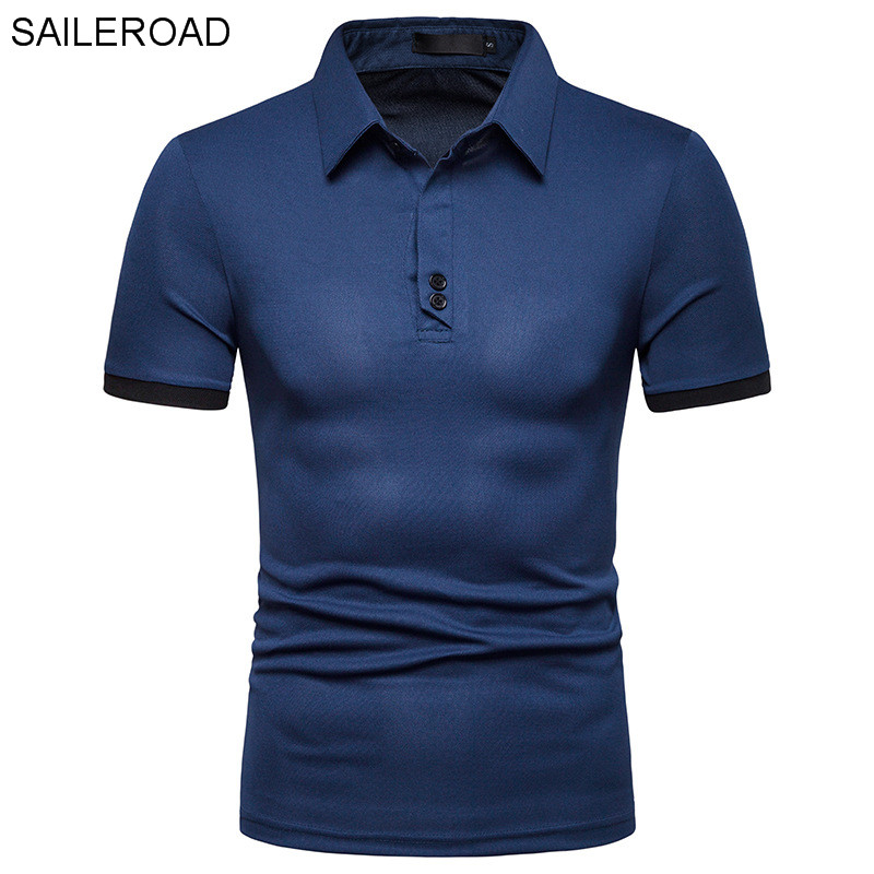 SAILEROAD Brand Fashion Business Men's   Polo   Shirt High Quality Tops Men Short Sleeve Shirt Brands Jerseys Summer   Polos   Blusas