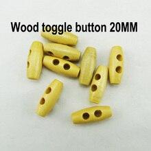 50 шт. 20 мм деревянный рожок Переключить пуговицы для одежды аксессуары для одежды пальто кнопки WHB-086
