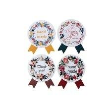Étiquette autocollante Vintage faite à la main, étiquette autocollante de scellage artisanal pour cadeau, pâtisserie, DIY bricolage, 120 pièces/lot