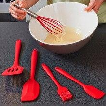 5-piece food grade silicone kitchen accessories gadget baking tool set scraper cake tableware