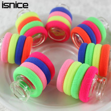 isnice 50pcs/lot For baby 0-6 Years Old Rubber bands Diameter 3cm Rainbow Color Gum Hair hair accessories gum girl