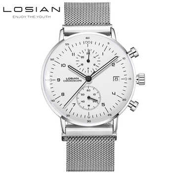 LOSIAN Men's Watches Fashion Slim Multi-function Luminous Waterproof Calendar 24 Hours Minutes Horloge Electronic Watch Mens - DISCOUNT ITEM  30% OFF All Category