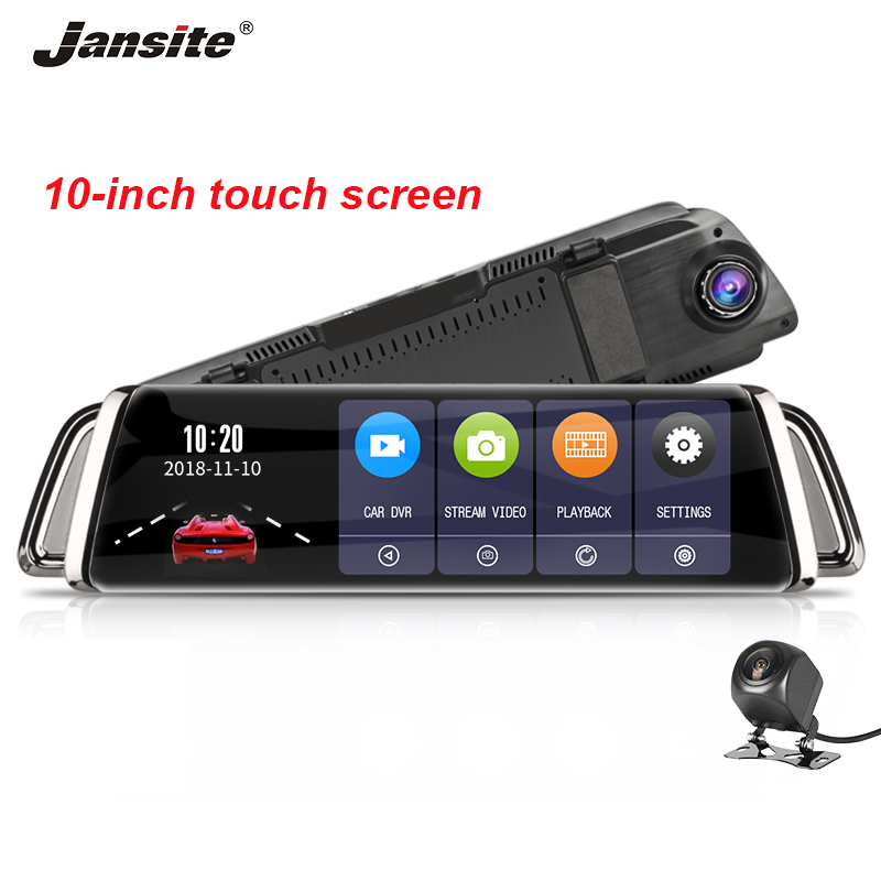 Jansite 10 Car DVR Rear camera Touch Screen Dash cam Camera Super Night Vision video Recorder