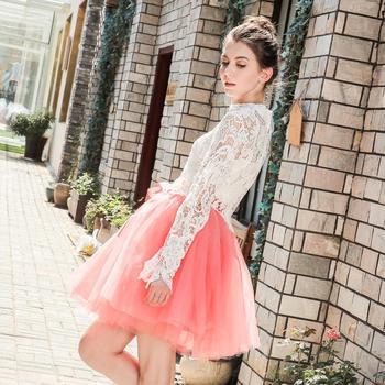 Skirts Womens 7 Layers Midi Tulle Skirt Fashion Tutu Skirts Women Ball Gown Party Petticoat 2019 Lolita Faldas Saia 3