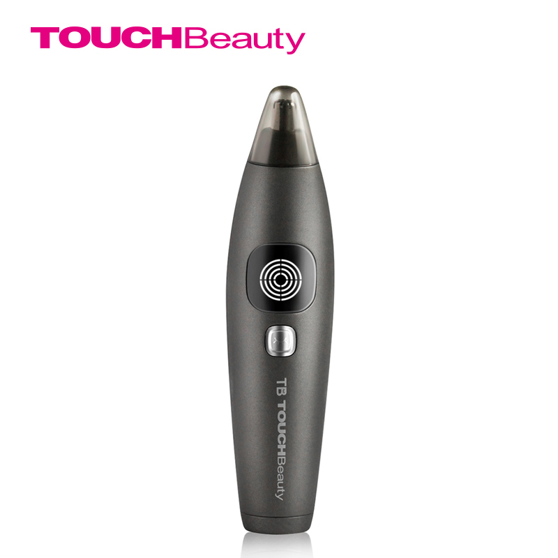 TOUCHBeauty Waterproof Nose Ear Hair Trimmer for Men with Stainless SteelBlade, LCD Screen Display Battery Level TB-1651