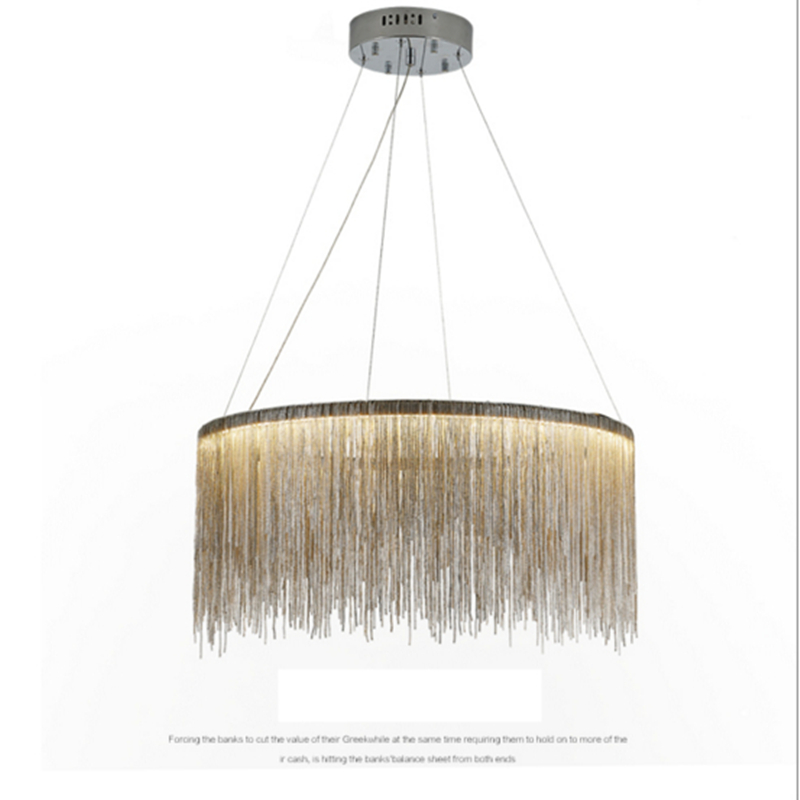 Modern high - end villa art personality lamps simple atmosphere chain chandelier Nordic bedroom living room lights zyy post modern simple restaurant chandelier art lights meteor shower villa stairs light living room bedroom led chandelier