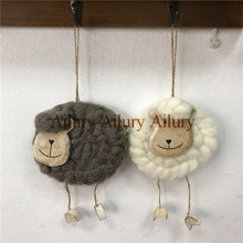 Unique,Nordic style cute alpaca pendant, childrens room decoration, wool felt gift